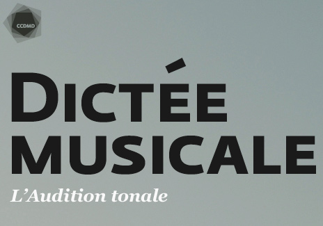 CCDMD - Dictée Musicale: L'audition tonale
